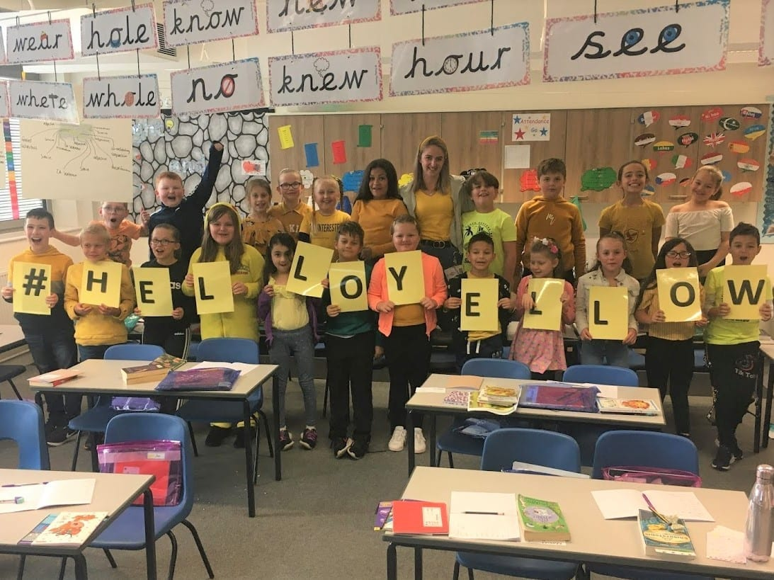 Supporting Hello Yellow Day 2020 at Wainwright Primary Academy